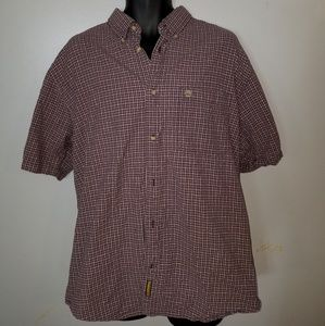 Timberland Red Plaid Button Down XL